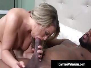 Dick Loving Carmen Valentina Slammed By Big Black Cock