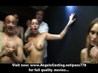 Badass Bisexual Chicks Licking Pussy In 69 In Public At An Orgy