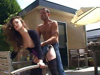 [dutch] Chick Fucked In Her Backyard