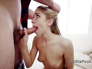 Blonde Spinner Gets Huge Cock Balls Deep