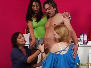 pipe, cfnm, éjaculation, sexe en groupe, milf, sexe