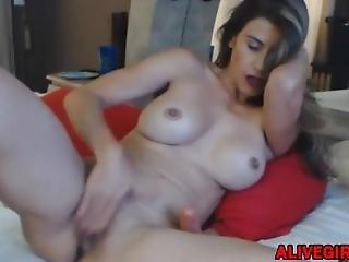 Wonderful Sexy Mom Gina With Huge Boobs Masturbates