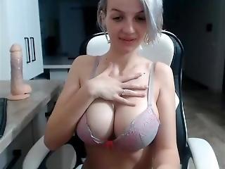 amateur, kont, dikke kont, dikke tiet, blonde, masturbatie, milf, solo, webcam