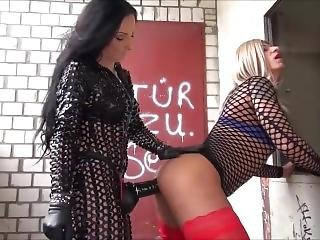 Female Domination (ass Massage With Strapon)