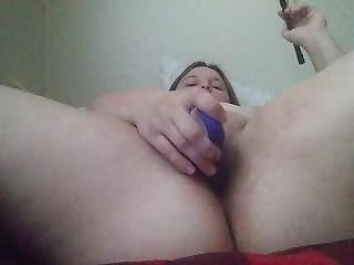 Cumming W/two Vibrators And Horse Whip