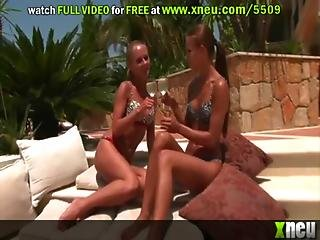 Drunk Lesbians Susane And Suzie Carina Have Some Hot Fun