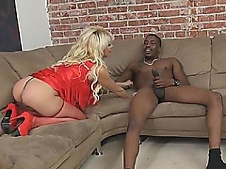 Blonde Milf Natasha Juja Blowjob Big Rod Interracial