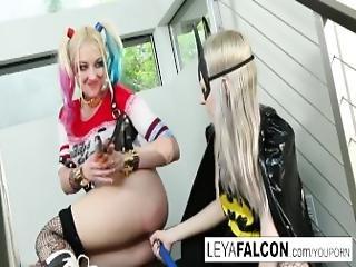 blondine, cosplay, kostüm, doppelte penetration, dp, lesbisch, eindringen, pornostar, sex, tmädchen, spielzeug
