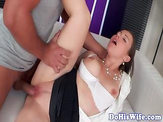Married Babe With Big Tits Riding Hard Dick