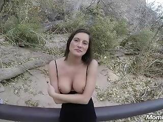 Perfect Tits Amateur Milf Gets Outdoor Facial Pov
