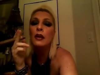 Sexy, Smoky Cigar Smoking Woman