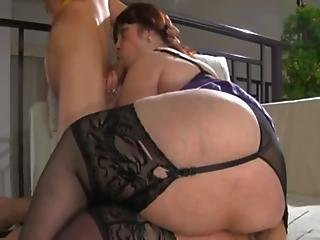 Russian Bbw-granny Anal By Young Guy.