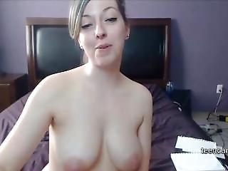 Young Teen With Big Tits And Big Ass Masturbating