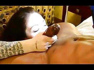 Hot Brunette Wife Fucks A Bbc Sucks Hubby While He Films