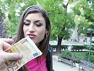 Spanish Babe Julia Roca Follows A Stranger To Fuck For Cash