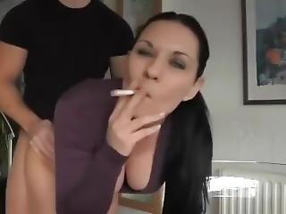 Smoking While Fucking Until Cum Shot To Face