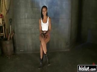 Skin Diamond Is Tied Up And Pleasured