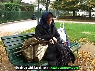 Homeless Cougar Will Fuck For Food