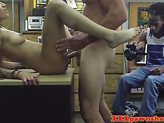 Ebony Pawnshop Amateur Facialized After Fucking