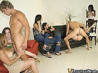 Big Cocks Are Drained By Horny Sluts In The Party