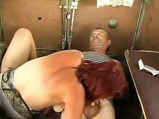 Hot Red Head Gal Does Bj For Homeless Man