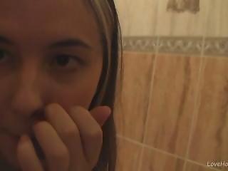 Klara Teasing Nude In The Bathroom