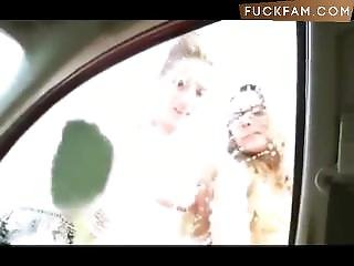 Fucked Her At The Carwash... While People Watch
