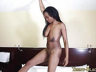 Busty Ebony Teen Creamed