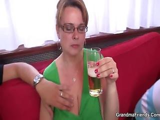 Threesome Party With Old Chick
