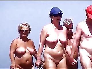 strand, nudist, im freien, softcore
