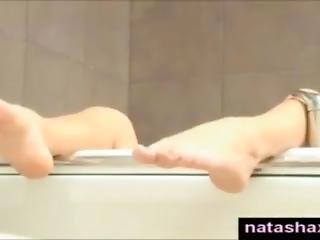 Natasha Shy Masturbating In Bath Tub
