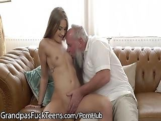 Old Pervert Gets Rock Hard From Fresh Young Teen%21
