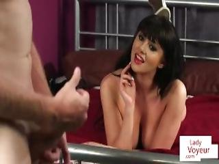 British Babe Undress And Clitrubs During Joi