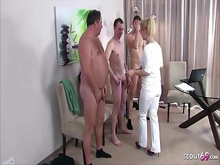 doktor, tysk, orgy, sex