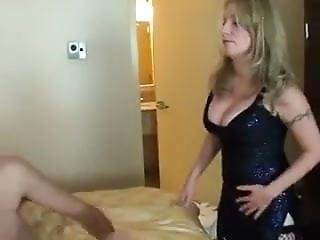 Mistress Amy Hubby Sucks Cock For Wife