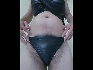 Showing Big Hairy Bush On Cam