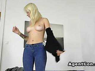 Russian Babe Fucks And Toys In Casting