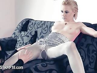 Unbelievably Hot Lesbian Teenagers Playing With Toys