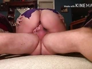 Hot Milf In Glasses Bouncing Fat Ass On Some Hard Cock Gets Creampied