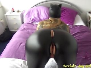Girl In Latex Catsuit Gets An Anal Creampie - Fucked In All 3 Holes