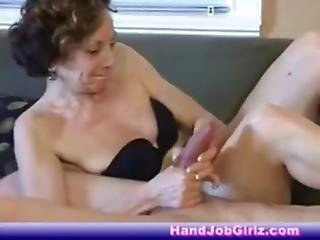 Hot French Mature Ballerina Jacks Of Young Guy & Makes Him Cum