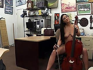 Long Legged Brazilian Veronica Gives The Pawnshop Owner A Hardcore Blowjob