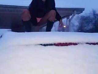 Cherry Red Dildo N Snow