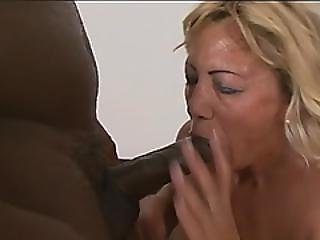 Busty Blonde Granny Sally Fucking Interracial