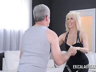aerobic, pipe, sperme, dans la tête, à la maison, tourné à la maison, mature, oral, sexe, salope