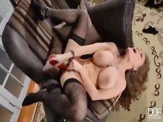 Perfect Busty Latvian Beauty Viola Masturbates Seductively