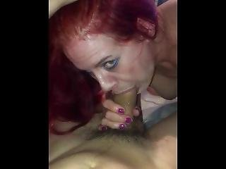 College Student Gets A Pov Blowjob From 50 Yr Old Mature Red Head
