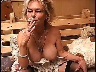 Gilf Smoking And Masturbating