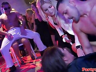 Closeup Party Teens Sucking Stripper Cock