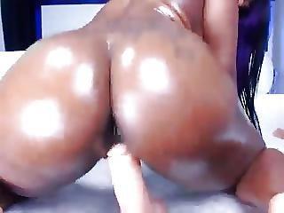 ερασιτεχνικό, μαύρο, πούτσα, Ebony, αυνανισμός, Teasing, Webcam